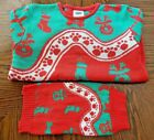 Cesar Dog & Owner Christmas Holiday Sweater Ugly Sweater Mens Womens NEW
