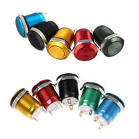 1Pc 2 Pins 12mm car computer waterproof momentary metal push button switch n FE