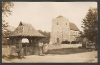 Postcard Steyning Church nr Worthing Sussex 1912 RP by Drewett of Storrington