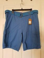 Kian D Men'S Belted Cargo Shorts - Nwt -Size 40, Blue
