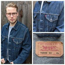 Levi's 70500 04 M-L Blue Washed Denim Jacket Men's Jeans Trucker Casual