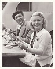 LANA TURNER EZIO PINZA Vintage 1950 CANDID Lunch Break MR IMPERIUM MGM DBW Photo