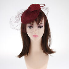 Royal Floral Veil Fascinators Party Derby Pillbox Hat with Headband Clip