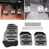 Silver Universal Non-Slip Automatic Pedal Brake Foot Treadle Cover Car Accessory