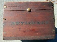 19th Century Boat Compass  Ship Marked Metacomet  By Thaxter Boston