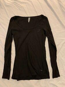G Star Raw Long Sleeved Black Tshirt - Size M