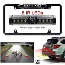 Night Vision 8 LED IR Car Rear View Backup Camera License Plate Frame Cam CMOS