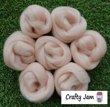 Needle Felting Pink Flesh Skin Tones Ideal 3D Projects Felting Wool Roving 46.6g