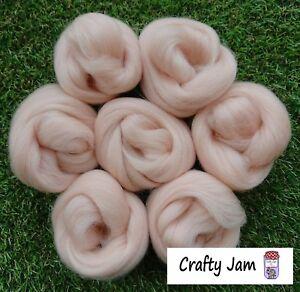 Needle Felting Pink Flesh Skin Tones Ideal 3D Projects Felting Wool Roving 46.6g