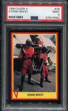 1984 Fleer V PSA 9 #36 Stand Back! Enemy Visitors TV Show The Series Alien Card