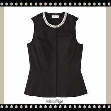 New 3-1 Phillip Lim For Target Black Peplum Sleeveless Top Vest Size M NWT
