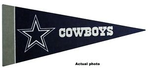 "Dallas Cowboys NFL Mini Pennant 9""x4"" Felt, Made in USA ,Banner"