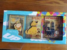 Disney Pixar 10 year anniversary UP  pins box set Dug beware of dogs wilderness