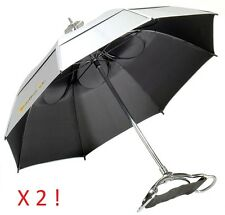 2x Gustbuster Spectator UV Blocking Umbrella Seat Chair Sunblock Walking Stick