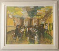 David Gillingwater b1966 Lifeboat Artist original signed oil painting Choir