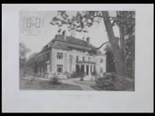 VILLA A NEUWALDEGG -1906 - 2 PLANCHES ARCHITECTURE- JOSEF HACKHOFER, VIENNE
