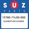 13780-71L00-000 Suzuki Element,air cleaner 1378071L00000, New Genuine OEM Part