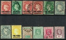 St Helena Q Victoria & KEVII mint & used selection - 12 items