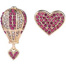 New Betsey Johnson Fashion woman rare Alloy Rhinestone Love drop Earring Jewelry
