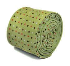 Frederick Thomas vert pointillé 100% coton cravate hommes ft2165