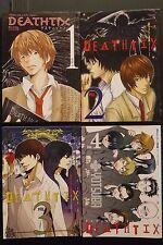 JAPAN Death Note Yaoi Anthology Comic: Deathtix 1~4 Complete Set