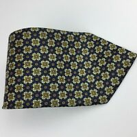 Sette & Bello Men's Silk Tie Blue With Geometric Pattern