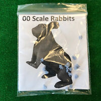 00 Scale Rabbits - Model Raiway Farm Animals Resin Wargame Scenery oo/ho 1/76