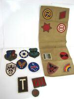 Vintage Military Patches Emblem Lot of 17  Khaki Canvas Infantry Division Wool