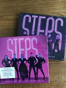 Steps - What the Future Holds SIGNED + Part 2 Deluxe 2 Cd Hardback SIGNED