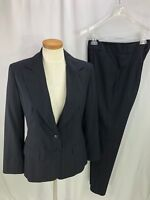 Charles Gray London Women's Blue Pinstripe Pant Suit 6 8