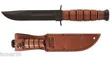 KA-BAR #1251 U.S.A. 3/4 SIZE FIGHTING UTILITY KNIFE w/ EMBOSSED SHEATH