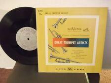 """Great Trumpet Artists""RCA LPT 26,US,10""LP,mono,Gillespie,Johnson,Eldridge+,M-"