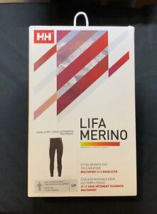 Helly Hansen HH LIFA Merino Black Base Layer S NEW