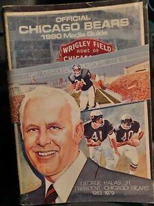 1980 CHICAGO BEARS  Media Guide George Halas cvr WALTER PAYTON  Alan Page ++