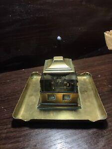 Brass inkwell antique