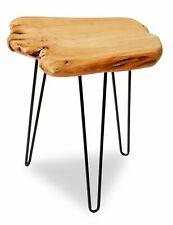 Tavolino da caffè Design Industrial in Ferro e Legno con Bordi al Taglio Vivo