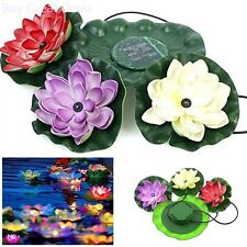 Floating Flower Garden Night Light Water Gardens Pond Lights Solar Power Energy