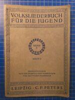 Volksliederbuch für die Jugend Band 1 Heft 1 C.F.Peters Leipzig H10278