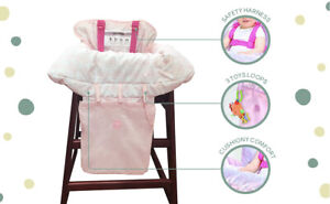 Little Me Shopping Cart and High Chair Cover Baby Girl Pink New w/Free Shipping