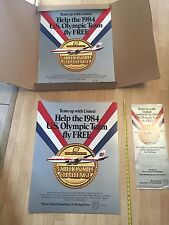 Vintage 1983 United Airlines Promotional Posters 1984 Olympic Sponsorship