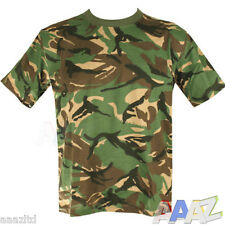 MENS MILITARY CAMOUFLAGE CAMO T SHIRT ARMY COMBAT COTTON T-SHIRT