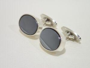 GEORG JENSEN #A26 sterling silver cufflinks with hematite