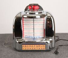 Joe Camel Novelty Jukebox Radio FM AM Cassette Chrome Model CR-10 Diner Style