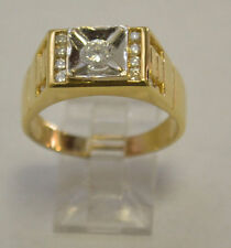 18 k Solid Yellow Gold Men Diamond Ring Size 9.75