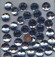 PC26 *** 25 pierres à coudre à facettes acrylique rondes 18mm -  BLEU CLAIR