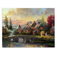 House LED Lighted Luminous Painting Canvas Picture Living Room Wall Art  D1