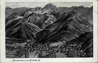 Feilnbach Oberbayern Bayern s/w Postkarte 1938 gelaufen Panorama von Feilnbach