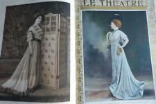 LE THEATRE 1907 BOUND ARTNOUVEAU FRONTISPIECE GOLDPRINT 300+PAGES ACTRESS PORTRA