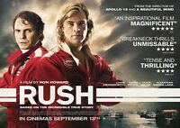 New Movie Poster Print: Rush A3 / A4