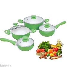 Induction 8Pc Premium Juego Ceramic Pan Casserole Set pans cooker